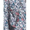 Terra & Sky Women's Plus Size Quarter Sleeve Square Neck Woven Peasant Top