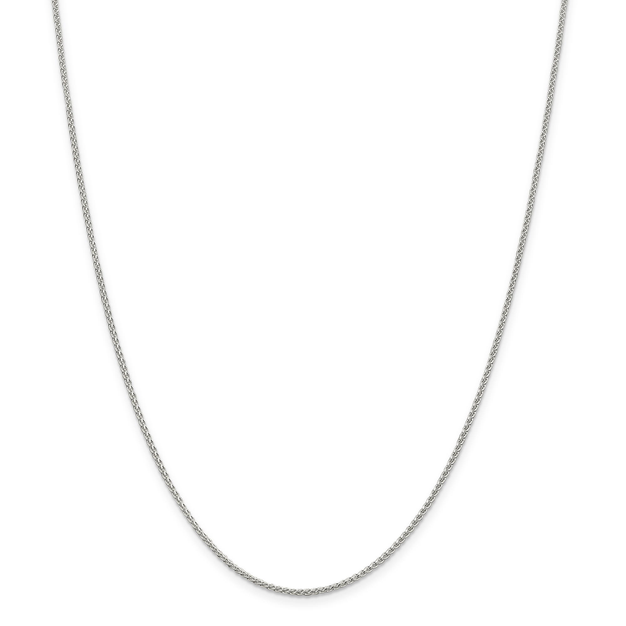 925 Sterling Silver 1.50mm Round Spiga Chain Necklace 22 Inch Pendant Charm Wheat Fine Jewelry Gifts For Women For Her - image 5 de 5