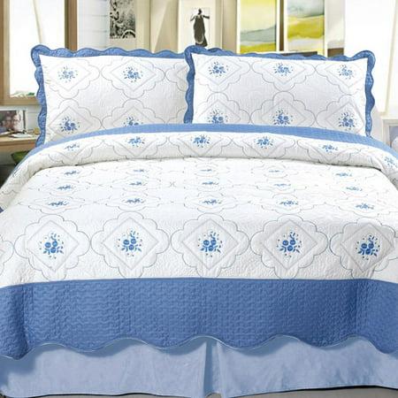 Somerset Home Embroidered Quilt Bedding Set Brianna