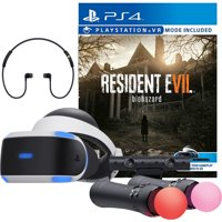 Sony PlayStation VR Resident Evil 7:Biohazard Starter Bundle 4 items:VR Headset,Move Controller,PlayStation Camera Motion Sensor,Resident Evil 7:Biohazard Game Disc