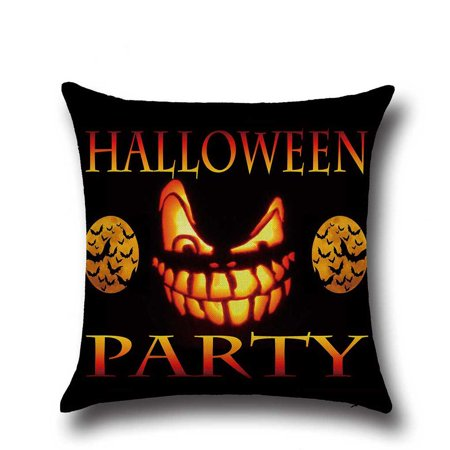 Happy Halloween Sofa Bed Home Decor Pillow Case Pumpkin Cushion Cover 45x45cm](Pumpkin Halloween Drinks)