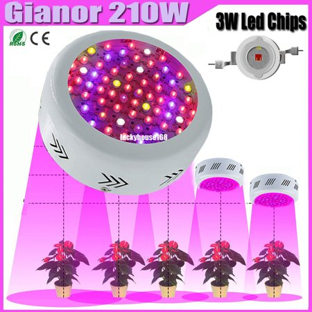 300W UFO LED Plant Grow Lights Red/Blue/UV/IR/White/Warm White Full Specturm Panel Hydroponic for Greenhouse and Indoor Plant Flowering Growing,