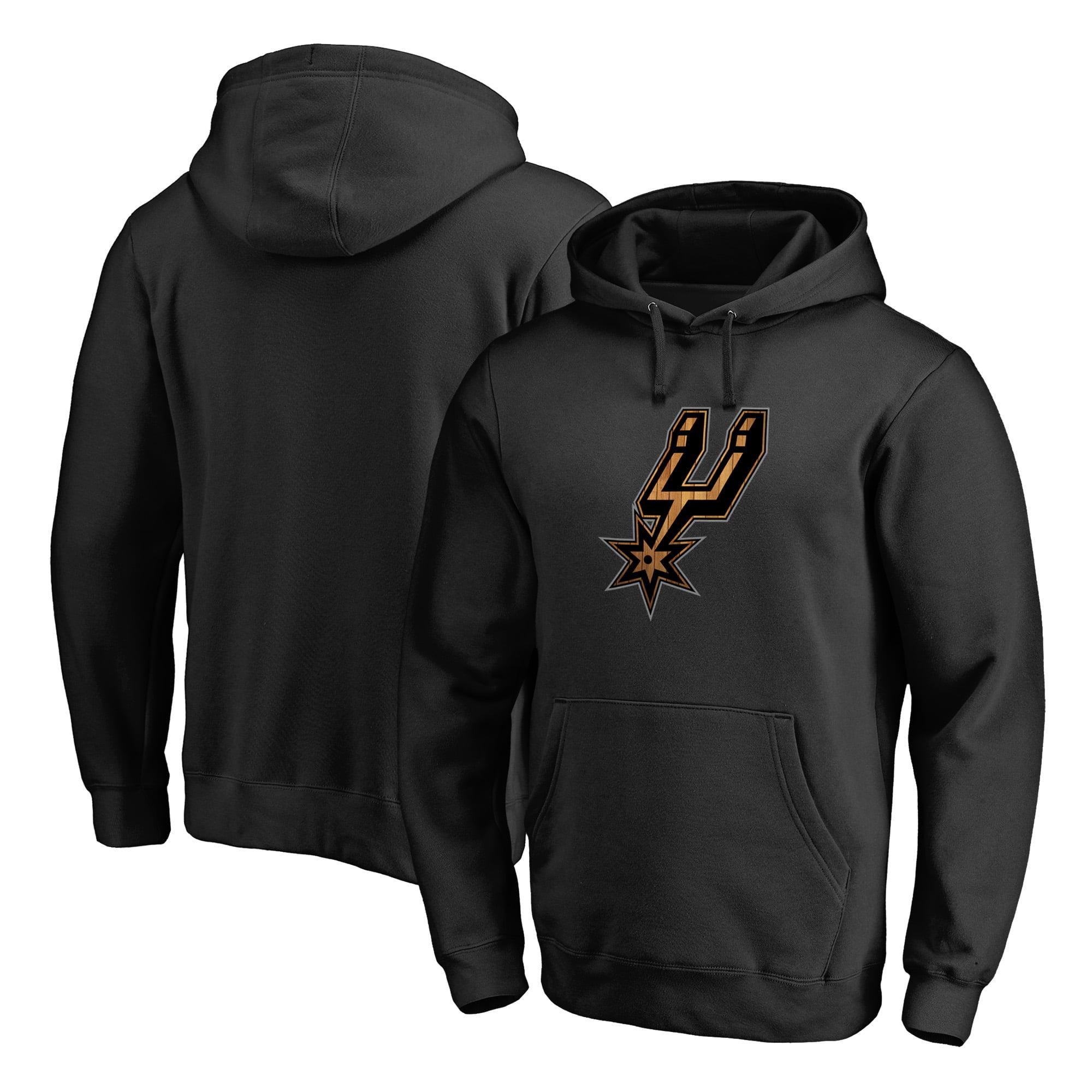 San Antonio Spurs Fanatics Branded Hardwood Pullover Hoodie - Black