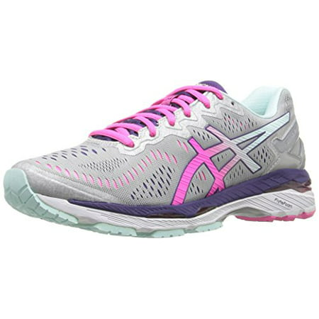 new product 6a839 2c459 ASICS Women's Gel-Kayano 23 Running Shoe, Silver/Pink Glow/Parachute  Purple, 7 D US