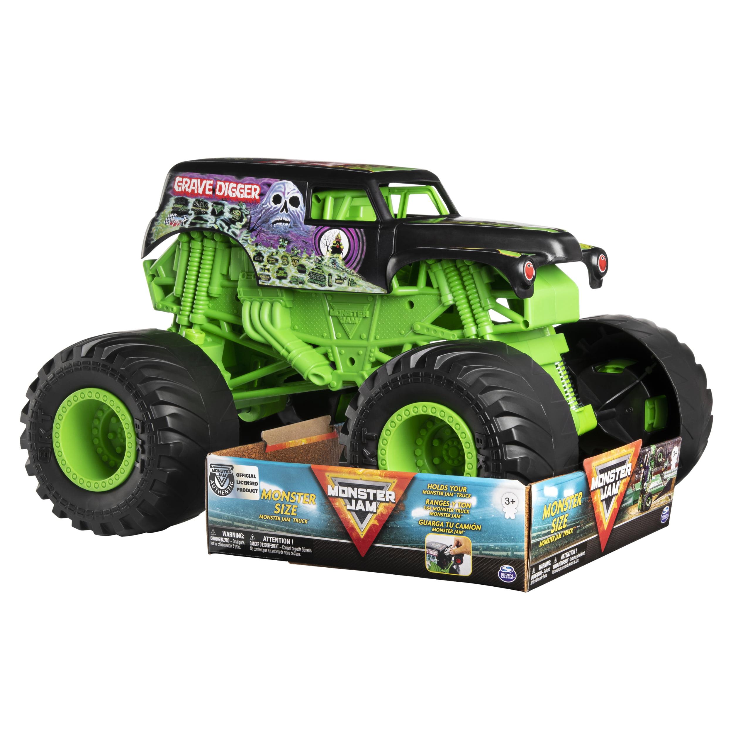 Monster Jam Monster Size Grave Digger Monster Jam Truck 1 10 Scale Walmart Com Walmart Com