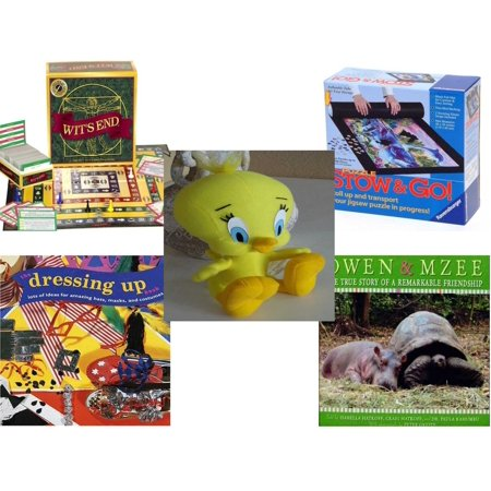 Children's Gift Bundle [5 Piece] -  Wit's End Board  - Stow and Go Storage System  - Tweety Bird  From Sylvester and Tweety 9