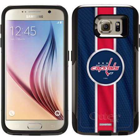 buy online a338e c62e6 Washington Capitals Jersey Stripe Design on OtterBox Commuter Series Case  for Samsung Galaxy S6