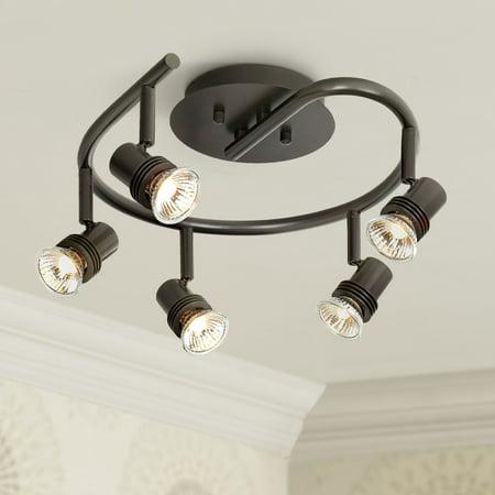 Pro Track® Spiral Bronze 5-Light Ceiling Fixture