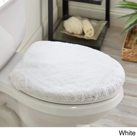 Elongated Toilet Lid Covers (mohawk home spa bath rug white (1' 4.5