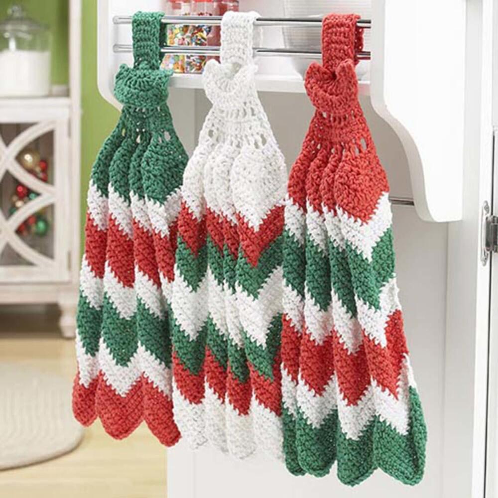 Herrschners® Christmas Ripple Hand Towels Crochet Yarn Kit - Walmart.com