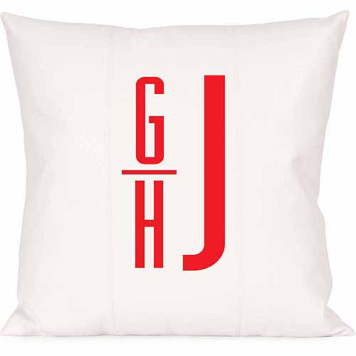 Personalized Offset Monogram Pillow