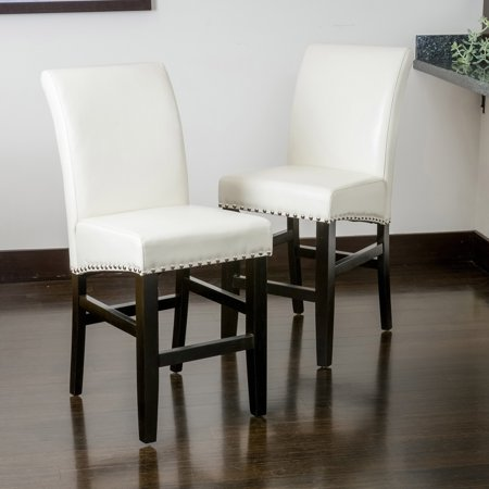 Noble House Lucca Ivory Bonded Leather Counter Stools (Set of (Difference Between Faux Leather And Bonded Leather)