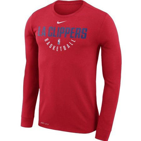 LA Clippers Nike Practice Long Sleeve Performance T-Shirt - Red
