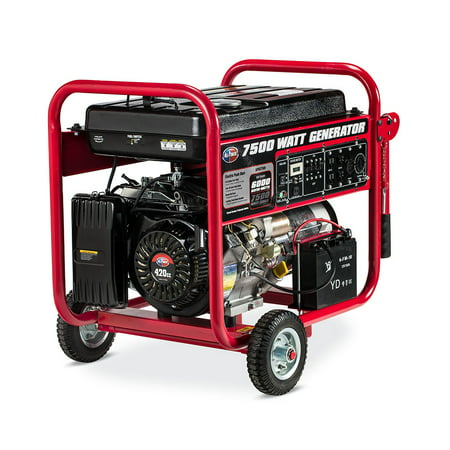 All Power 7500 Watt Generator with Electric Start, 7500W Gas Portable Generator for Home Use Emergency Power Backup, RV Standby, Storm Hurricane Damage Restoration Power Backup,