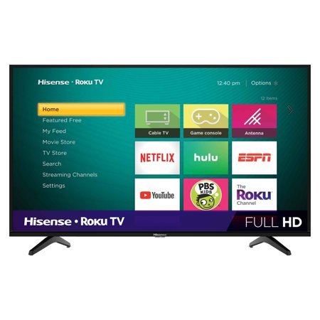 "Hisense 40"" Class 1080P FHD LED Roku Smart TV 40H4030F1"