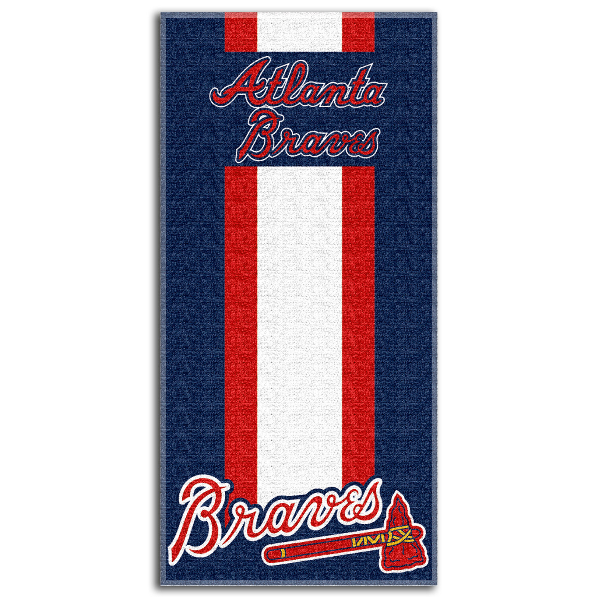 Atlanta Braves The Northwest Company Zone Read Beach Towel - No Size
