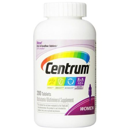 Centrum Women Multivitamin Multimineral Supplement Tablets  200 Count