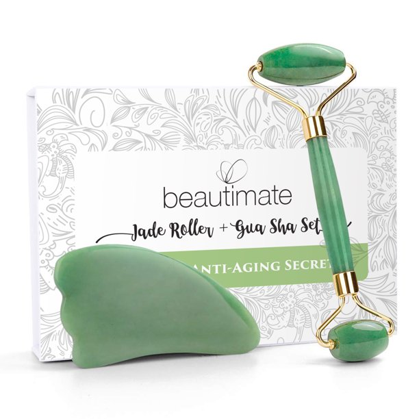(60% Off) Beautimate Facial Jade Roller & Gua Sha Tool Set