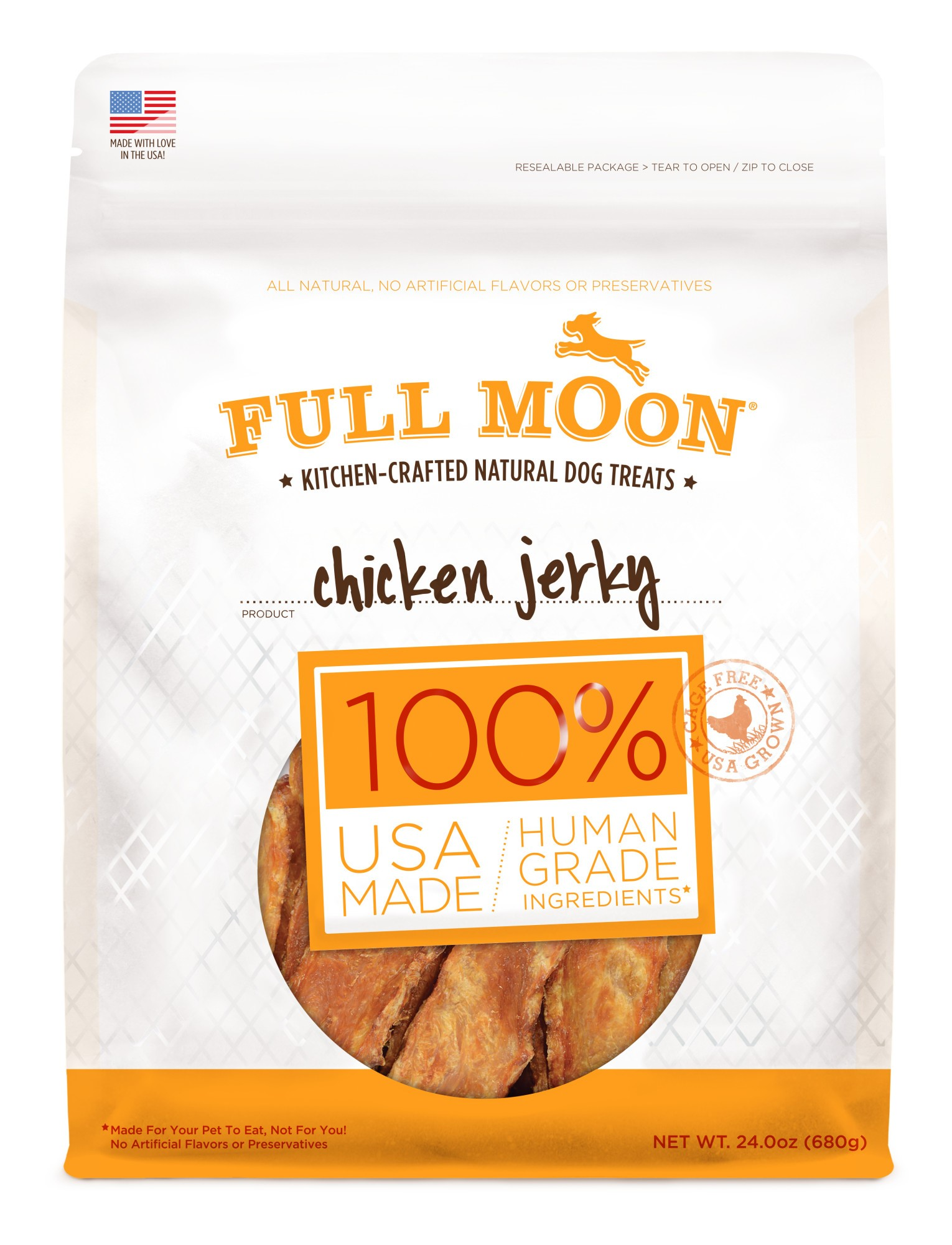 Full Moon All Natural Human Grade Dog Treats, Chicken Jerky, 24 Ounce by Perdue Foods, LLC