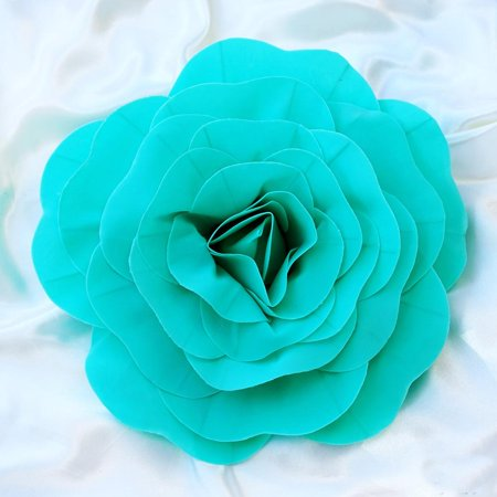 "Efavormart 16"" Real Touch  Artificial Foam 3D Craft Rose for DIY Wedding Bouquets Centerpieces Arrangements Party Home - Egg White Foam"