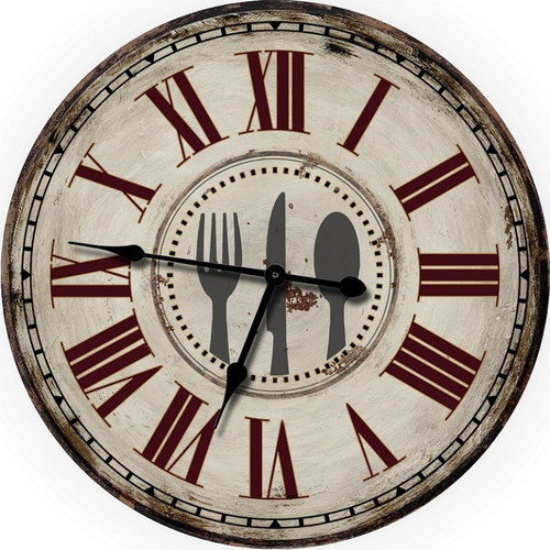 M Home Decor Country Decor Fork, Knife and Spoon 24.5'' Wall Clock