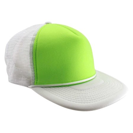 92273e3b93c Enimay Neon Colored Black Light Trucker Style Foam Hats Pool Party Rave  Summer Neon White Green One Size