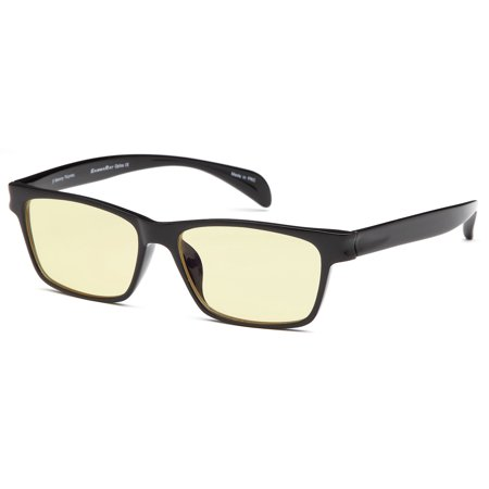GAMMA RAY 003 Computer Readers Reading Glasses in Ergonomic Memory Flex Frame w UV Protection, Anti Blue Rays, Anti Glare and Scratch Resistant Lens in 53-16-140 Size with Optional Magnification