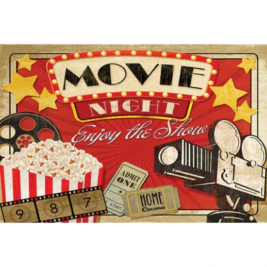 Movie Night Poster Print by Mollie B (18 x 12)