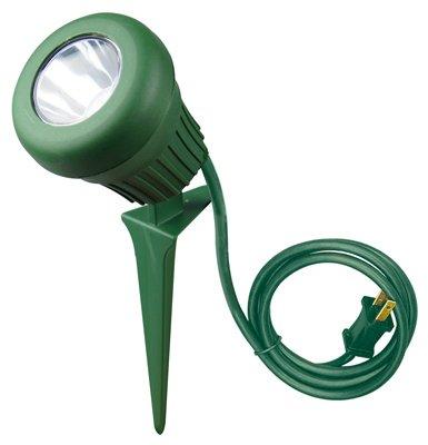 Yard Master 434 LED Outdoor Garden Flood Light with Stake, Interchangeable Bonus Lenses and 3-Feet SJTW Cord