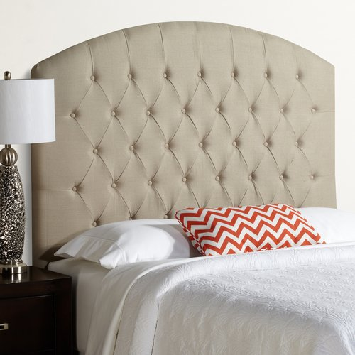 Mozaic Company Humble and Haute Hanover Tall Curved Upholstered Headboard