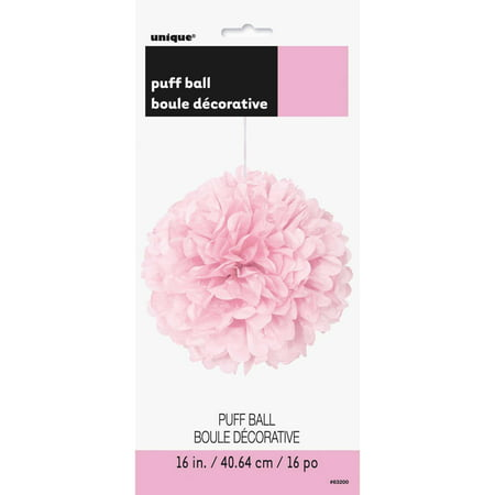 Tissue Paper Pom Pom, 16 in, Light Pink, 1ct - Diy Tissue Pom Poms