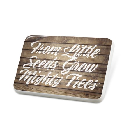 Porcelein Pin Painted Wood From Little Seeds Grow Mighty Trees Lapel Badge – (From Little Seeds Grow Mighty Trees Meaning)
