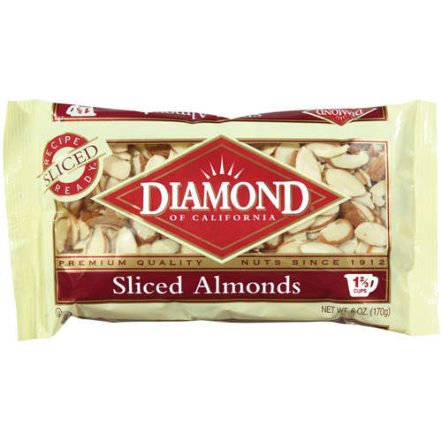 Diamond:  Almonds Sliced, 6 oz