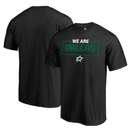 Dallas Stars Shield - Dallas Stars Fanatics Branded Iconic Collection We Are T-Shirt - Black