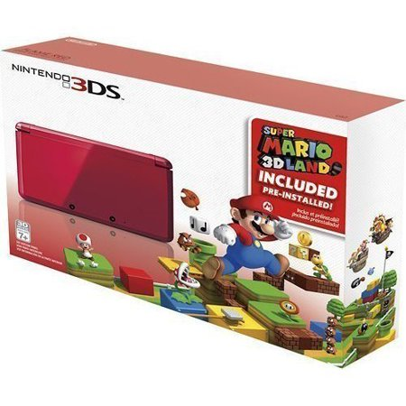 Refurbished Portable Nintendo 3DS Holiday Bundle Flame Red With Super Mario 3D Land (Dsi Console Red)