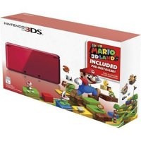 Refurbished Portable Nintendo 3DS Holiday Bundle Flame Red With Super Mario 3D Land