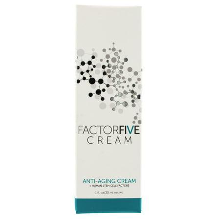 FactorFive Cream Anti-Aging Cream + Human Stem Cell Factors 1oz/30ml