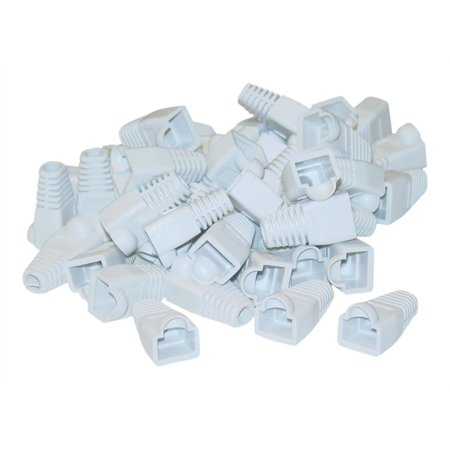 CableWholesale.com RJ45 White Strain Relief Boots - Network cable boots - white (pack of 50 )