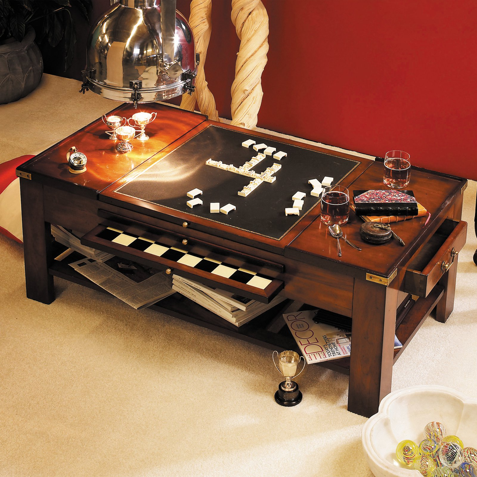 Authentic Models Game Table Coffee Table-Black by Authentic Models
