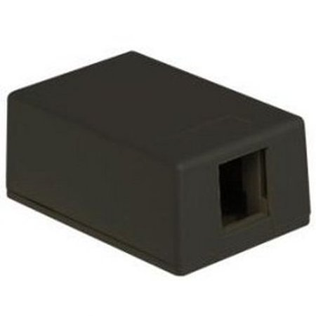 ICC Int'L Conn and Cable IC107SB1BK Surface Mount Box, 1-Port, Black