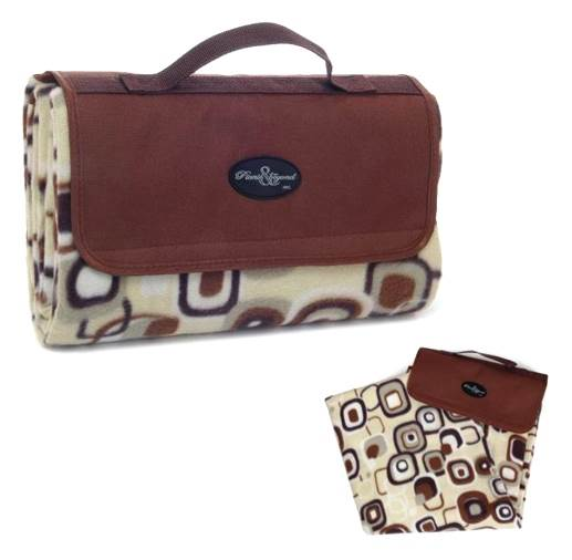 Outdoor Fleece Picnic Rug in Brown