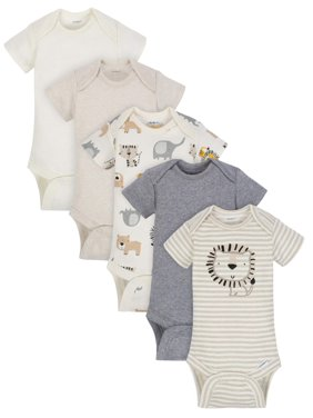 7e4ca0703 Product Image Organic Cotton Short Sleeve Onesies Bodysuits, 5pk (Baby Boy)