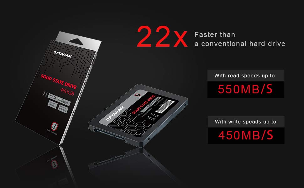DATARAM 120GB 2.5 SSD Drive Solid State Drive Compatible with ASROCK FATAL1TY X299 Gaming K6