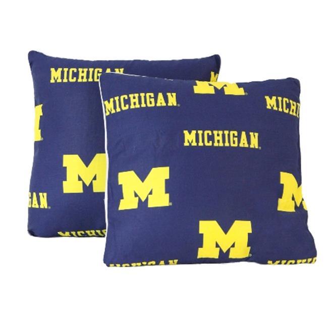 michigan wolverines decorative pillow set