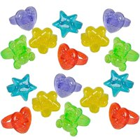 Plastic Kid's Rings – Assorted Plastic Glitter Rings – Toys & Games, Dressing Up & Costumes, Beauty & Fashion, Rings – By Kidsco
