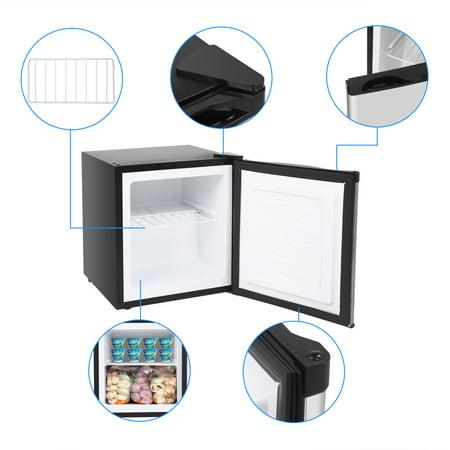 1.1 cu. ft. Energy Star Upright Lock-Stainless Steel Freezer, Cubic Feet