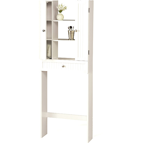 Homz Country Over the Toilet Space-Saver Etagere, White