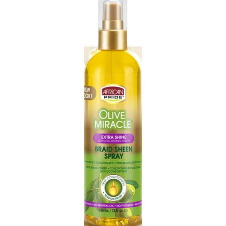 African Pride Olive Miracle Braid Sheen Spray 12 fl. oz. Spray