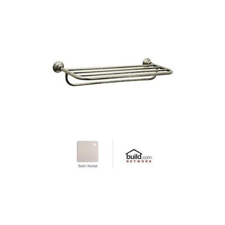ROT10STN Country Bath Collection Country Hotel Style Towel Shelf: Satin