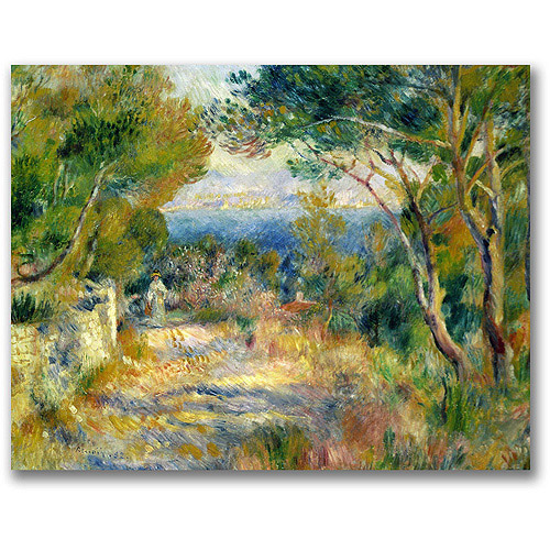 "Trademark Fine Art ""L'Estaque, 1882"" Canvas Wall Art by Pierre Renoir"